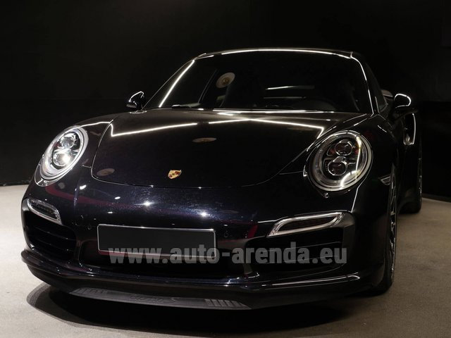 Rental Porsche 911 991 Turbo S Ceramic LED Sport Chrono Package in Luxembourg
