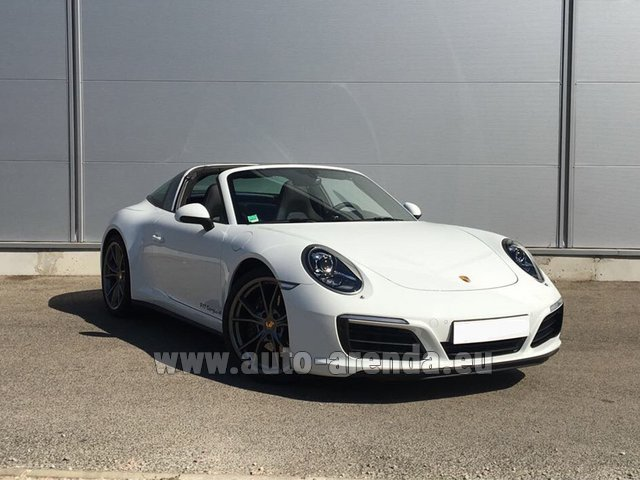 Rental Porsche 911 Targa 4S White in Diekirch