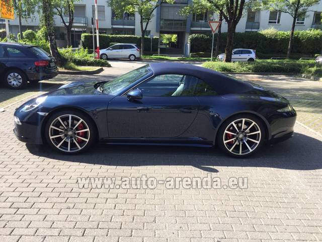 Rental Porsche 911 Carrera 4S Cabriolet in Differdange