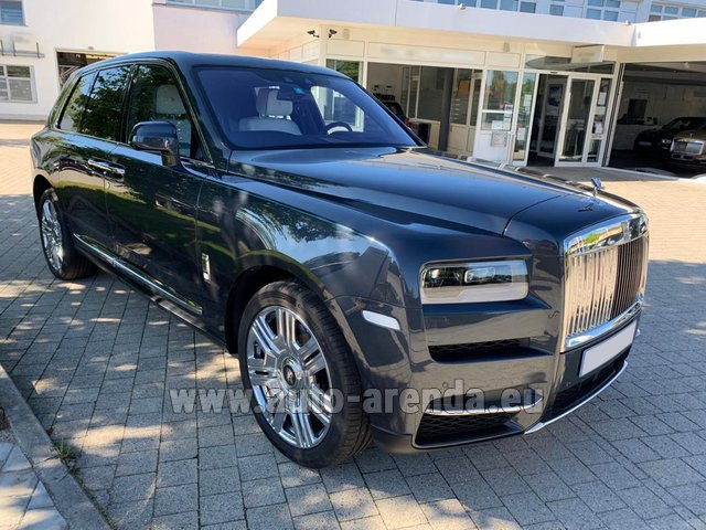 Rental Rolls-Royce Cullinan dark grey in Luxembourg City
