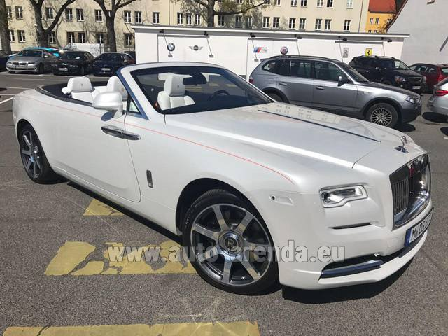Rental Rolls-Royce Dawn (White) in Luxembourg City