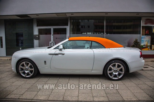 Rental Rolls-Royce Dawn White in Differdange