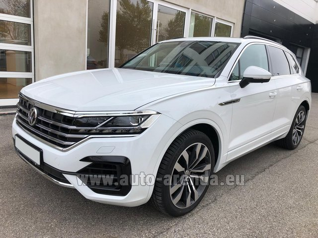 Hire and delivery to Luxembourg Findel Airport the car Volkswagen Touareg 3.0 TDI R-Line